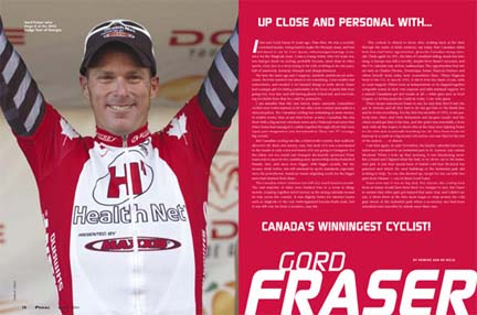 Canada's Winningest Rider Gord Fraser (Health Net p/b Maxxis) interview in Pedal Annual 2006 issue. ©  Casey B. Gibson