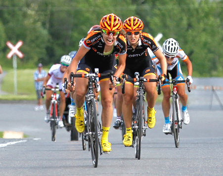 Numainville and Kirchmann at the finish of the 2013 Road Nationals [P] Peter Marcoux