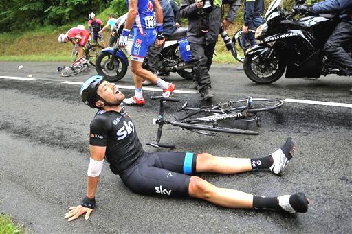 More Carnage for Team Sky Geraint Thomas  ©  Cor Vos