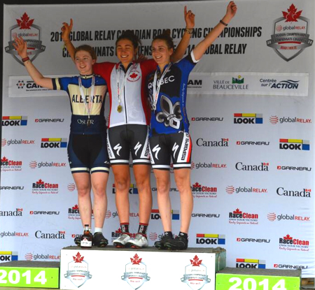 Junior W RR Podium [P] Cycling Canada
