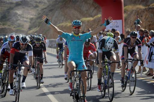 Andrea Guardini (Ita) Team Astana wins Stage 1. [P] Cor Vos