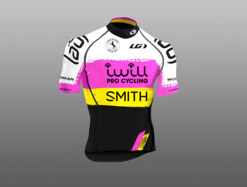 iWill Pro Cycling Team clothing designed by Jonathan Wood [P]
