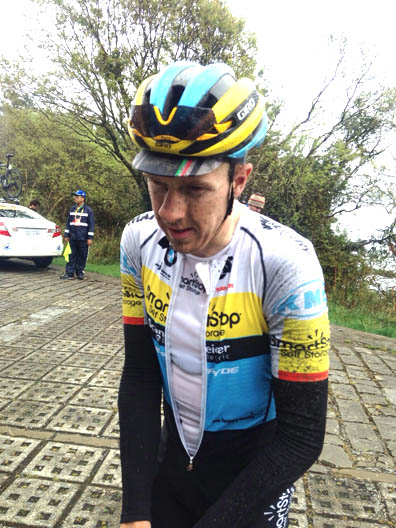 Rob Britton after the Queen Stage at the Tour de Taiwan [P] Team SmartStop