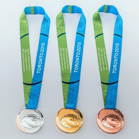TO2015 medals [P] TORONTO 2015 Pan AmParapan Am Games