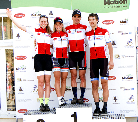 Can MTB Cup leaders (l-r) Meeuwisse, Batty, Gagne, Auclair [P] Pasquale Stalteri