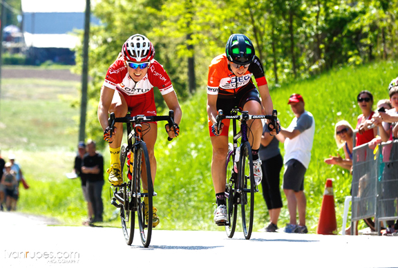 Kirchmann (l) and Moerig battle to the line [P] Ivan Rupes