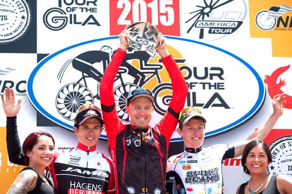 Men's GC podium (l-r) Diez 2nd, Britton 1st, Mannion 3rd [P] Mitchell Clinton