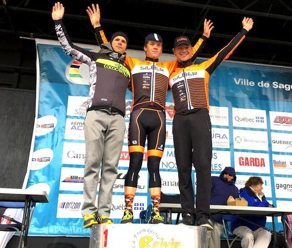Stage 1 podium  ©  Gord Fraser