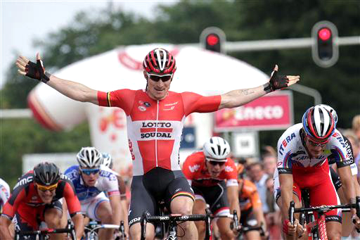 Andre Greipel takes Stage 2 [P] Cor Vos