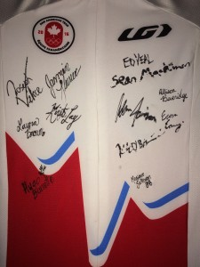 Cycling Canada 2015 Pan Am Games framed signed jersey [P] OCA