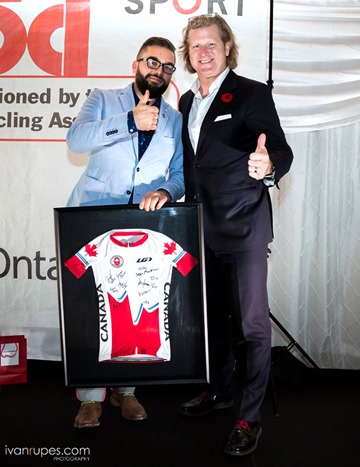 A special signed Pan Am Games Jersey was up for auction [P] Ivan Rupes