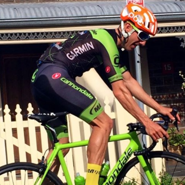 Michael Woods sneak peek at his new Cannondale-Garmin team gear [P] Michael Woods