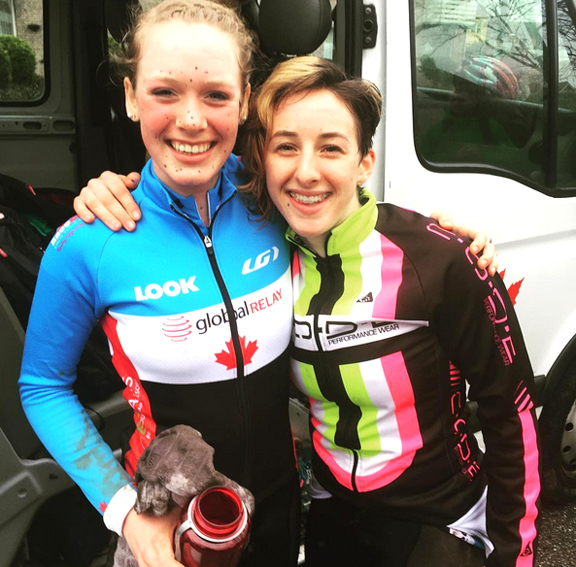 Ruby West and Maggie Coles-Lyster  ©  Cyclocross Canada