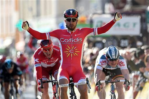 Nacer Bouhanni (Fra) Cofidis wins Stage 4 [P] Cor Vos
