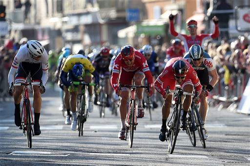 Nacer Bouhanni (Fra) Cofidis wins Stage 4 sprint [P] Cor Vos