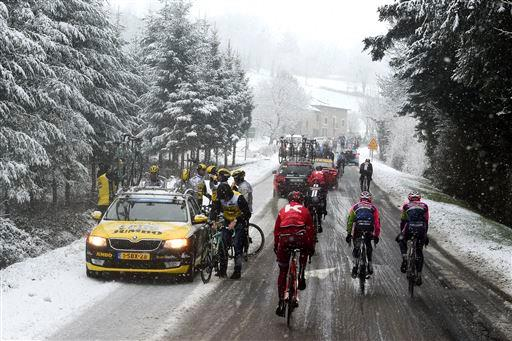 Team LottoNL - Jumbo during the stage 3 of the 74th Paris - Nice [P] Cor Vos