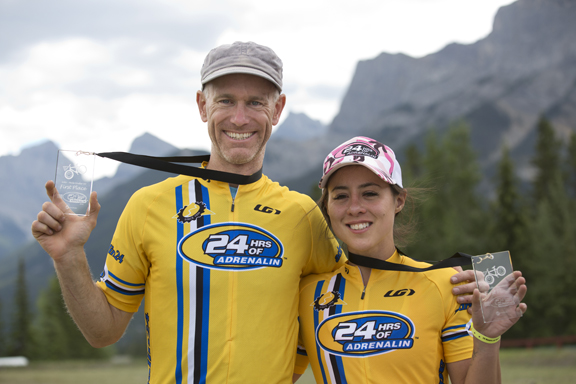 Men's and Women's Solo category winners David Anderson and Kara Lilly [P] John Gibson