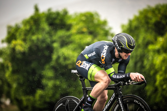 Jack Burke at the Time Trial on Stage 3 [P] Stirl and Rae Photo