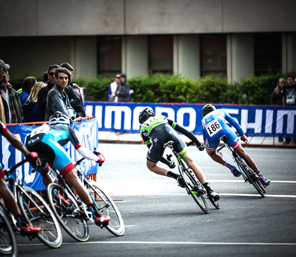 Travis Samuel defending the Green Jersey on the Stage 4 Criterium [P] Stirl and Rae Photo
