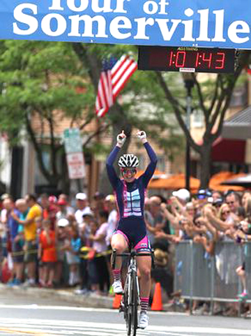 Ellen Watters wins Sommerville [P] courtesy of The Cyclery Racing