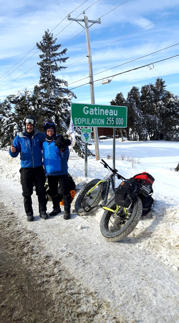 Guy and Nicolas enterying Gatineau [P] courtesy of Guy Rouleau