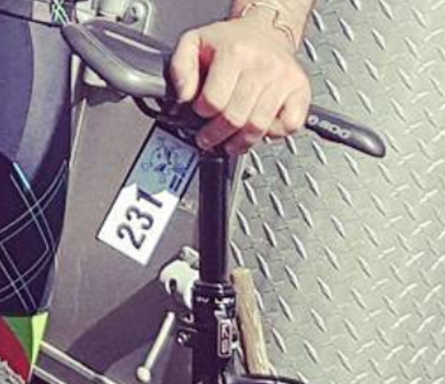 Attach your bike numbert to the seat post [P]