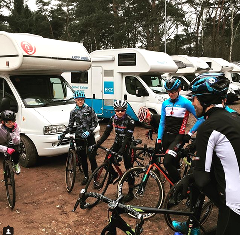 Geoff Kabush leads a pre-race ride – it's been great having him here in Belgium  ©  Cycling Canada