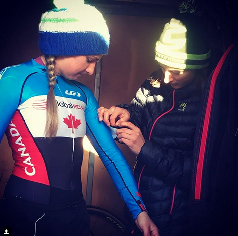 Siobhan Kelly and Magdeleine Vallieres Mille  ©  Cycling Canada
